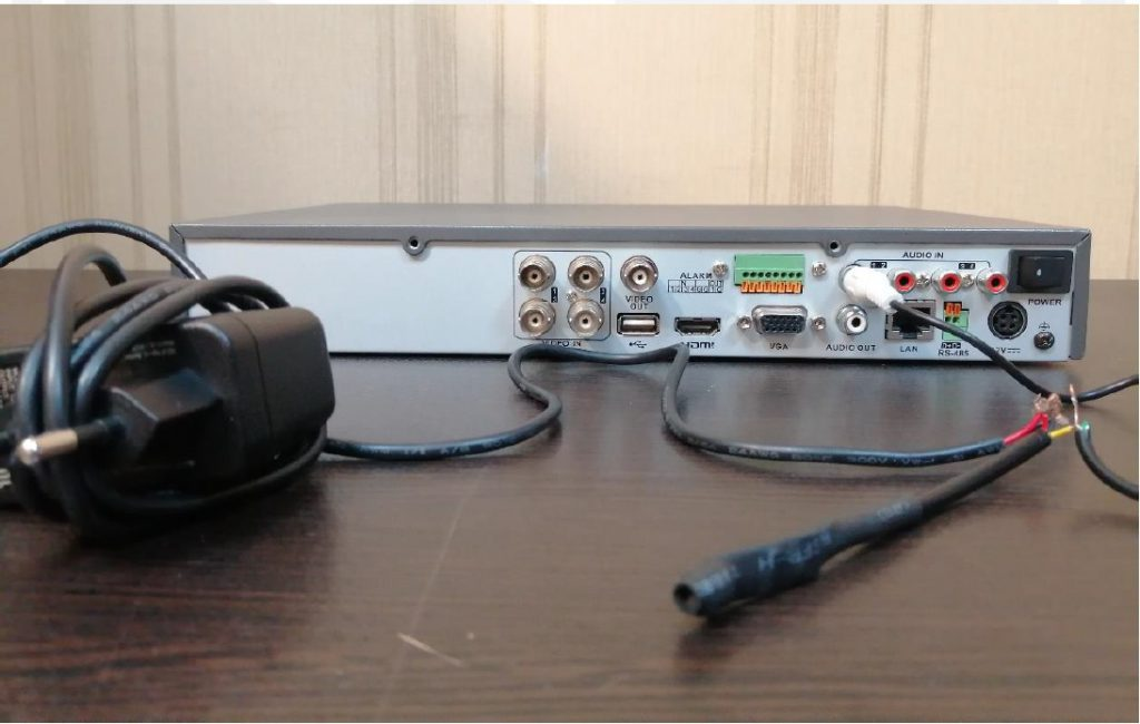 نصب میکروفون روی dvr هایک ویژن